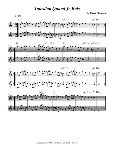 Renaissance Fiddling Tunes for Two Soprano Recorders sheet music
