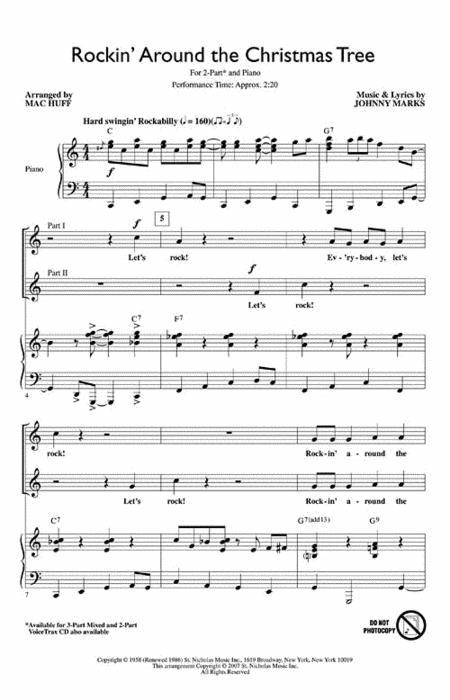 Rockin Around The Christmas Tree Piano Sheet Music.Sheet Music Rockin Around The Christmas Tree 2 Part