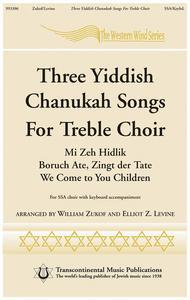 Three Chanukah Songs for Treble Choir sheet music