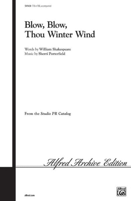 Sheet Music Blow Blow Thou Winter Wind Choral