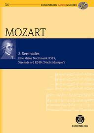 Wolfgang Amadeus Mozart  Sheet Music 2 Serenades: KV 525/KV 388 Eine Kleine Nachtmusik/Serenade a 8 (Night Music) Song Lyrics Guitar Tabs Piano Music Notes Songbook