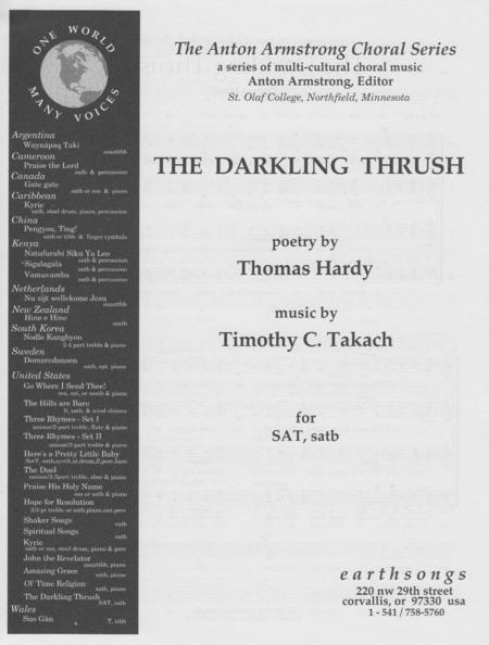 critical appreciation of the darkeling thrush A critical overview of the darkling thrush by thomas hardy, including historical reactions to the work and the author.