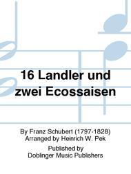 Franz Schubert  Sheet Music 16 Landler und zwei Ecossaisen Song Lyrics Guitar Tabs Piano Music Notes Songbook
