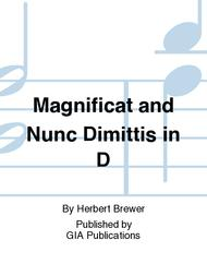 Magnificat and Nunc Dimittis in D sheet music