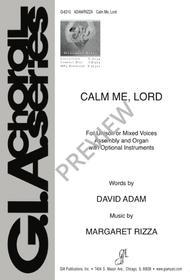Calm Me, Lord sheet music