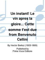 Un instant! Le vin apres la gloire... Cette somme t'est due from Benvenuto Cellini sheet music