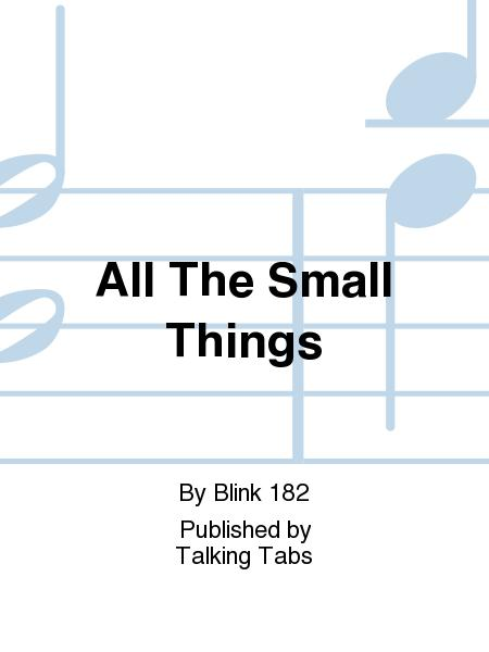 Sheet Music All The Small Things Cd Only