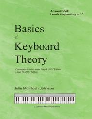 Basics of Keyboard Theory: Answer Book (for Preparatory - Level X) sheet music