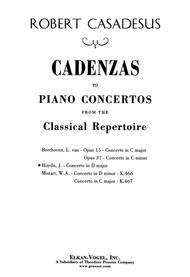 Concerto In C K467 - Piano - Cadenzas Only