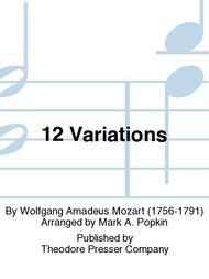 Wolfgang Amadeus Mozart  Sheet Music 12 Variations Song Lyrics Guitar Tabs Piano Music Notes Songbook
