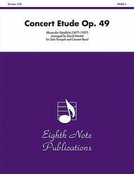 Concert Etude, Op. 49 sheet music