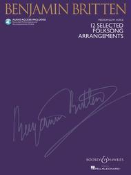 Benjamin Britten  Sheet Music 12 Selected Folksong Arrangements Song Lyrics Guitar Tabs Piano Music Notes Songbook