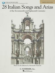 28 Italian Songs & Arias of the 17th & 18th Centuries - Medium High - Book/Online Audio sheet music