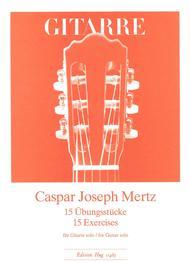 Caspar Joseph Mertz  Sheet Music 15 Ubungsstucke Song Lyrics Guitar Tabs Piano Music Notes Songbook