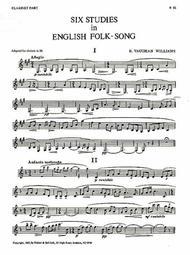 Six Studies in English Folk Song for Clarinet sheet music