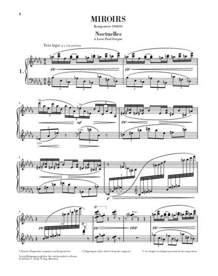 Sheet music miroirs piano solo for Miroir lyrics