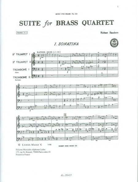 brass quintet sheet music free pdf