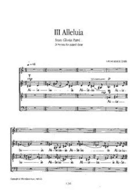 3 Alleluia Op 41 Choeur
