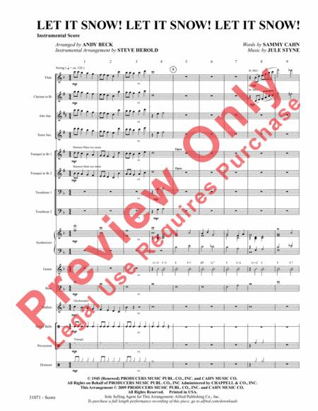 let it snow sheet music pdf