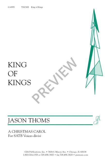 Sheet Music King Of Kings Satb