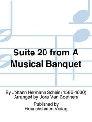 Suite 20 from A Musical Banquet sheet music