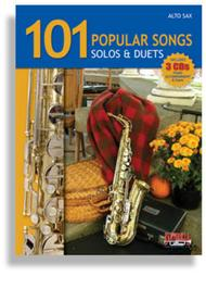 Various  Sheet Music 101 Popular Songs for Alto Sax * Solos & Duets * with 3 CDs Song Lyrics Guitar Tabs Piano Music Notes Songbook