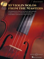 Various  Sheet Music 10 Violin Solos from the Masters Song Lyrics Guitar Tabs Piano Music Notes Songbook