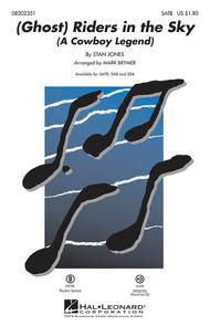 Stan Jones  Sheet Music (Ghost) Riders in the Sky - ShowTrax CD Song Lyrics Guitar Tabs Piano Music Notes Songbook