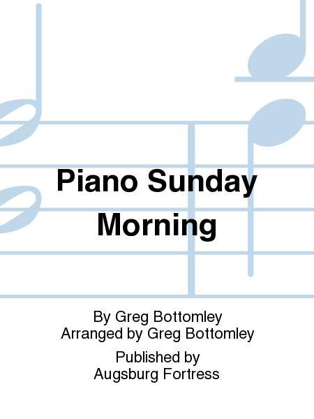 Sheet Music Piano Sunday Morning Piano Solo