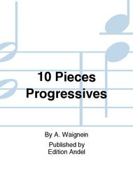 A. Waignein  Sheet Music 10 Pieces Progressives Song Lyrics Guitar Tabs Piano Music Notes Songbook