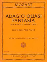 Adagio Quasi Fantasia, K. 396 (K6 385f) - First Edition