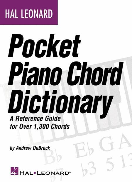 Hal Leonard Pocket Piano Chord Dictionary Sheet Music By Andrew ...