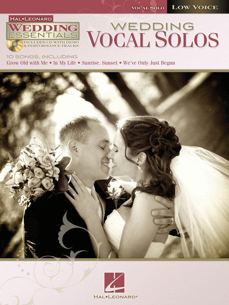 Sheet Music Wedding Vocal Solos Low Voice