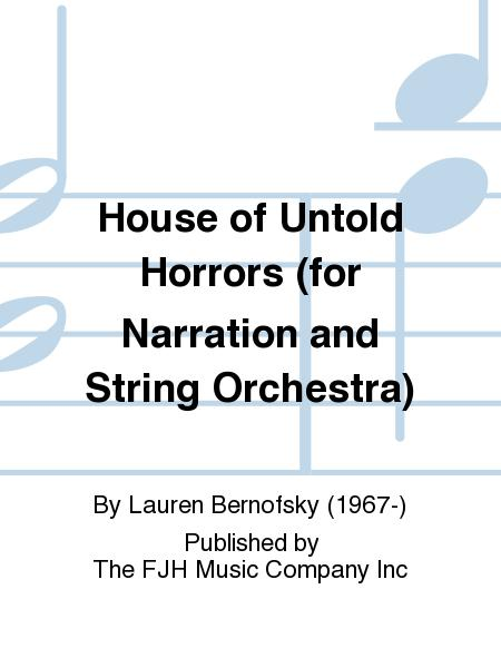 Sheet music house of untold horrors string orchestra for House music orchestra