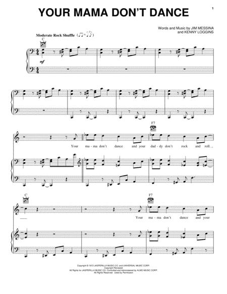 Download Digital Sheet Music Of Kenny Loggins For Piano Vocal And