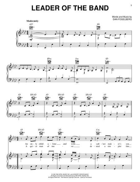 Download Digital Sheet Music of dan fogelberg for Piano, Vocal and ...