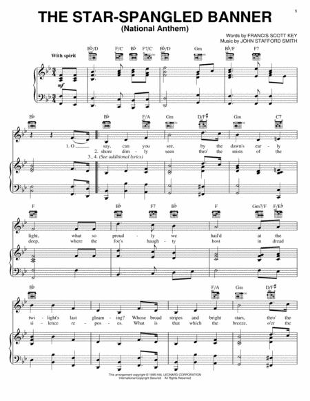 Download Digital Sheet Music of national for Piano, Vocal and Guitar