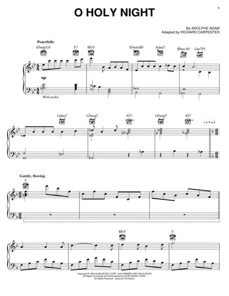 Download Digital Sheet Music of O holy night for Piano, Vocal and Guitar
