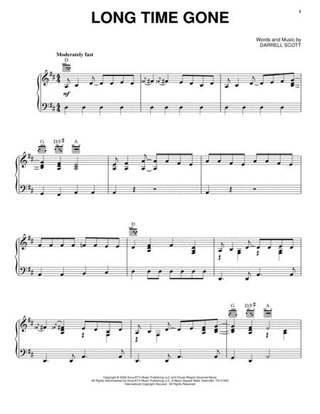 Download Digital Sheet Music of dixie chicks for Piano, Vocal and Guitar