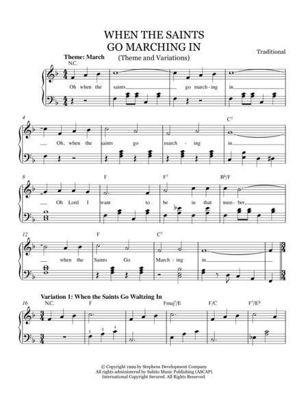 When The Saints Go Marching In For Toy Piano Sheet Music To Download