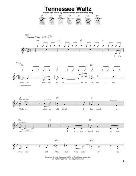 Download Digital Sheet Music Of Guitar Waltz For Guitar