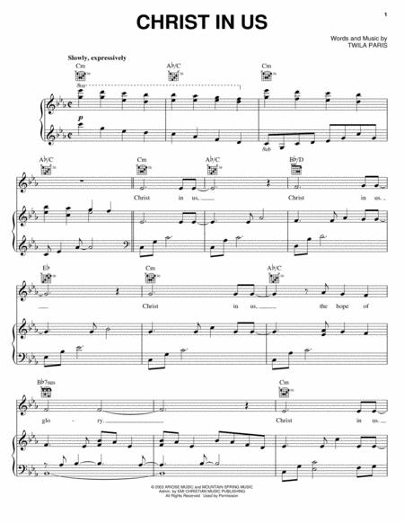Download Digital Sheet Music of twila paris for Piano, Vocal and Guitar