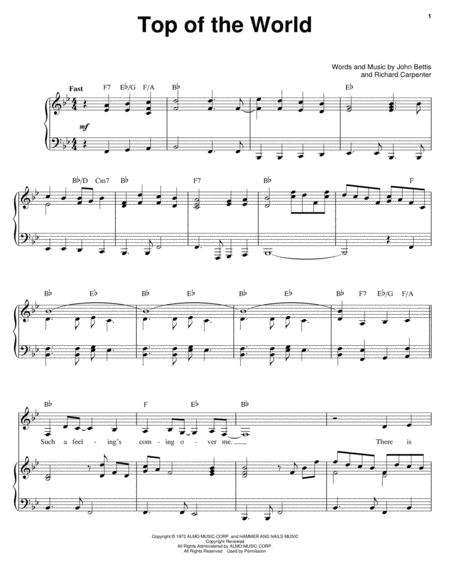 Download Digital Sheet Music of the carpenters for Piano, Vocal and ...