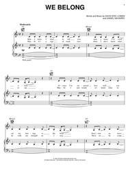 We Belong sheet music