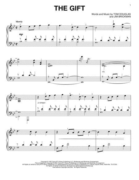 Jim Brickman sheet music to download and print - World center of ...