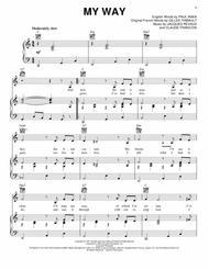 My Way Sheet Music 1