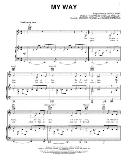 Paul Anka, Elvis Presley, and Frank Sinatra sheet music to download ...