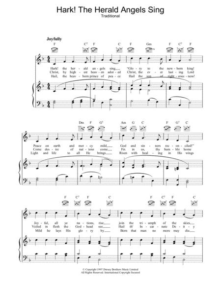 Download Digital Sheet Music of hark, the herald angels sing for ...
