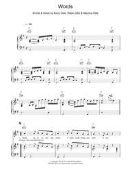 Words Sheet Music 1