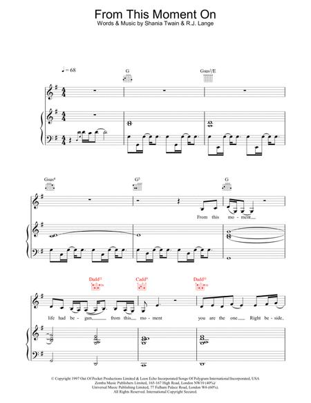 Download Digital Sheet Music Of Shania Twain For Piano Vocal And Guitar